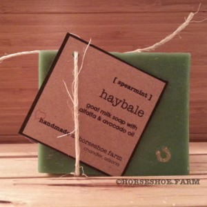 haybale goat milk soap