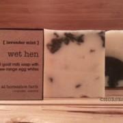 wet hen   goat milk & egg white soap
